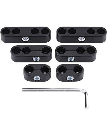 7mm 8mm Separadores de cables Telares Bujías Separadores de cables Divisores Telares (Black)