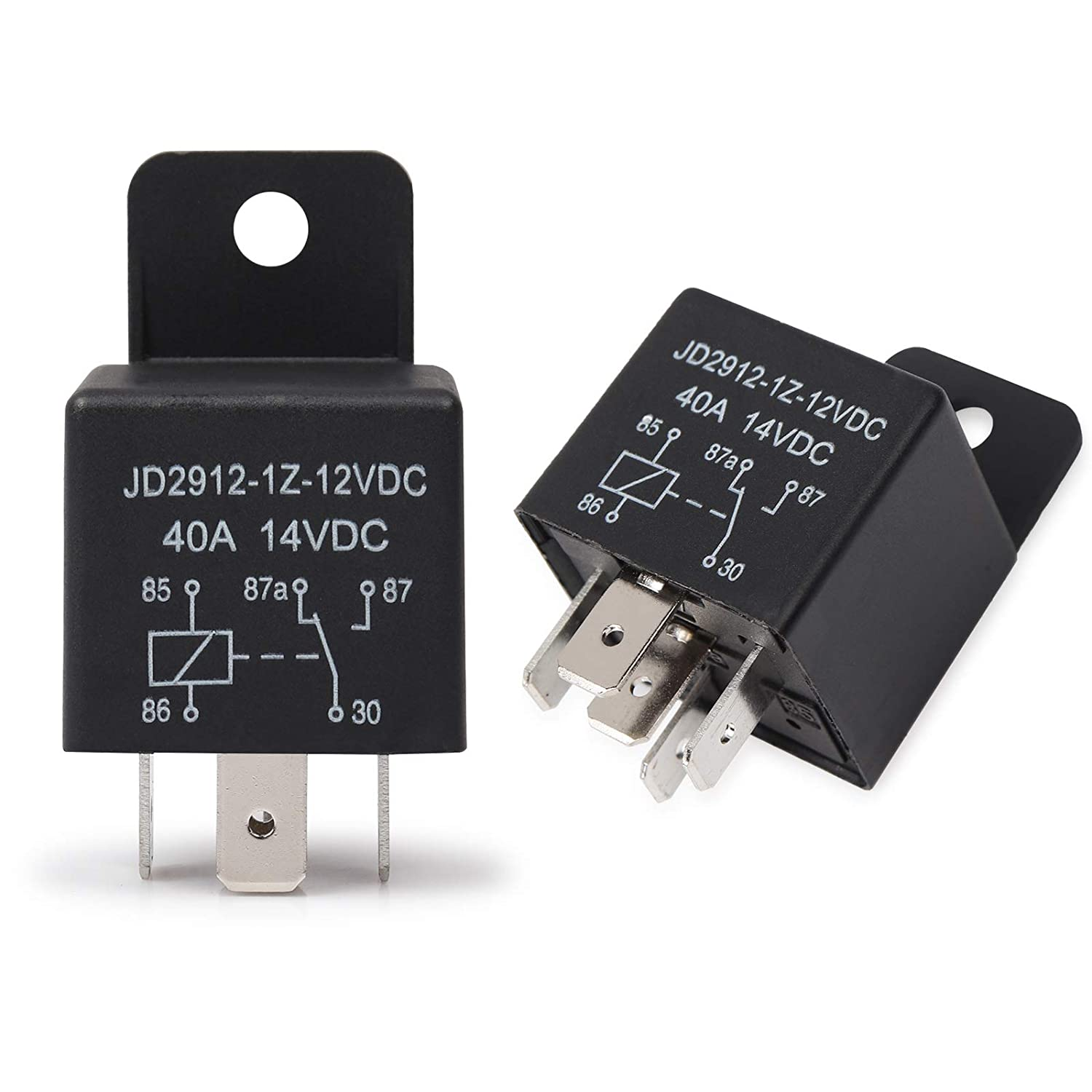 Auto Switches /& Starters Ehdis/® Motor Relay 5 Pin 24V Coil 40amp Spdt Model No.: JD2912-1Z-24VDC 40A 28VDC Contactor Relay Switch Power 10 Pack