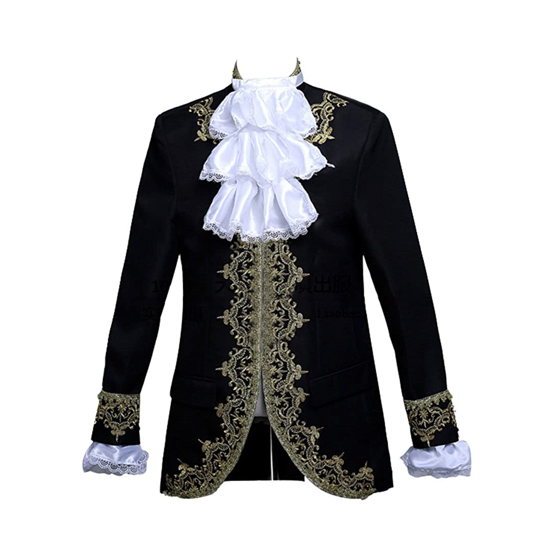 Masquerade Ball Clothing: Masks, Gowns, Tuxedos ROLECOS Mens Prince Charming Costume Royal Tuxedo Luxury Dress Blazer Pants $69.99 AT vintagedancer.com