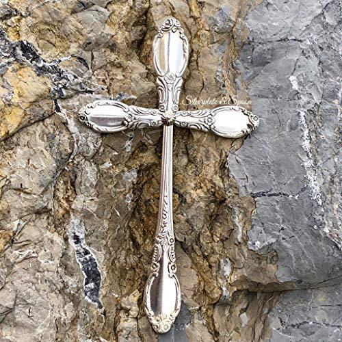 Artesian Decorative Silverplate Spoon Hanging Wall Cross -