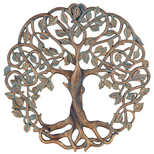 """Old River Outdoors 15"""" Tree of Life Wall Plaque Decorative Celtic Garden Art Sculpture - Large Version"""