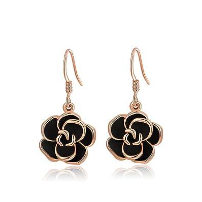 Amazon.com: Aretes joyliveCY colgantes de oro rosa con ...