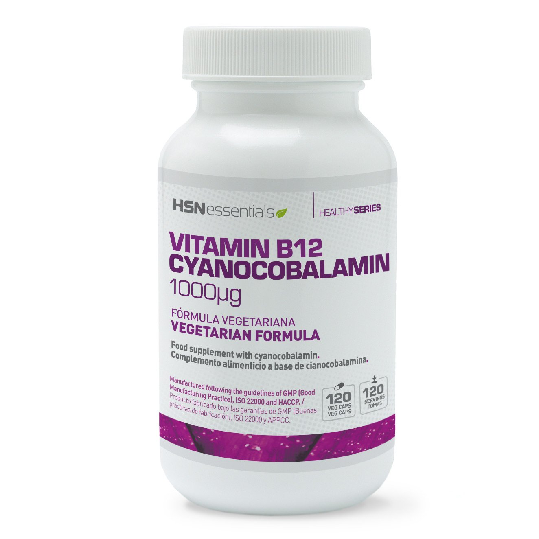 HSN Essentials - Vitamina B12 - 1000mcg - Forma de Cianocobalamina - 120 Cápsulas Vegetales: Amazon.es: Salud y cuidado personal