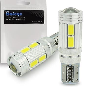 2x T10 W5W LED CANBUS no hay errores Bombillas exteriores 10 SMD 5630 Luz Coche trasera ...