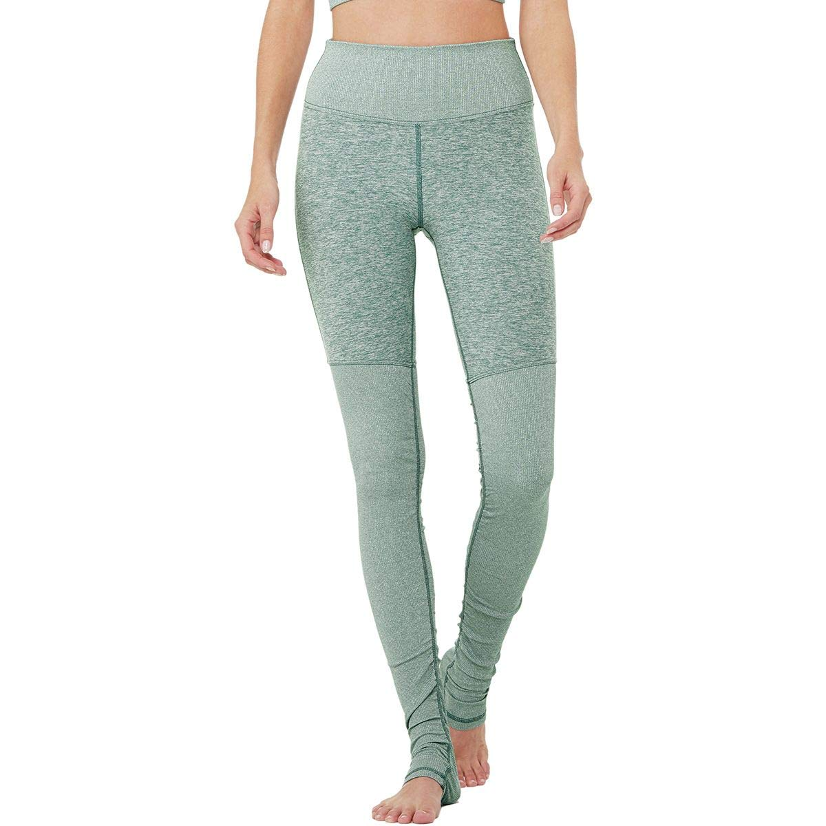 Alo Yoga High-Waisted Alosoft Goddess Legging - Women's Seagrass Heather/Seagrass Heather, XS