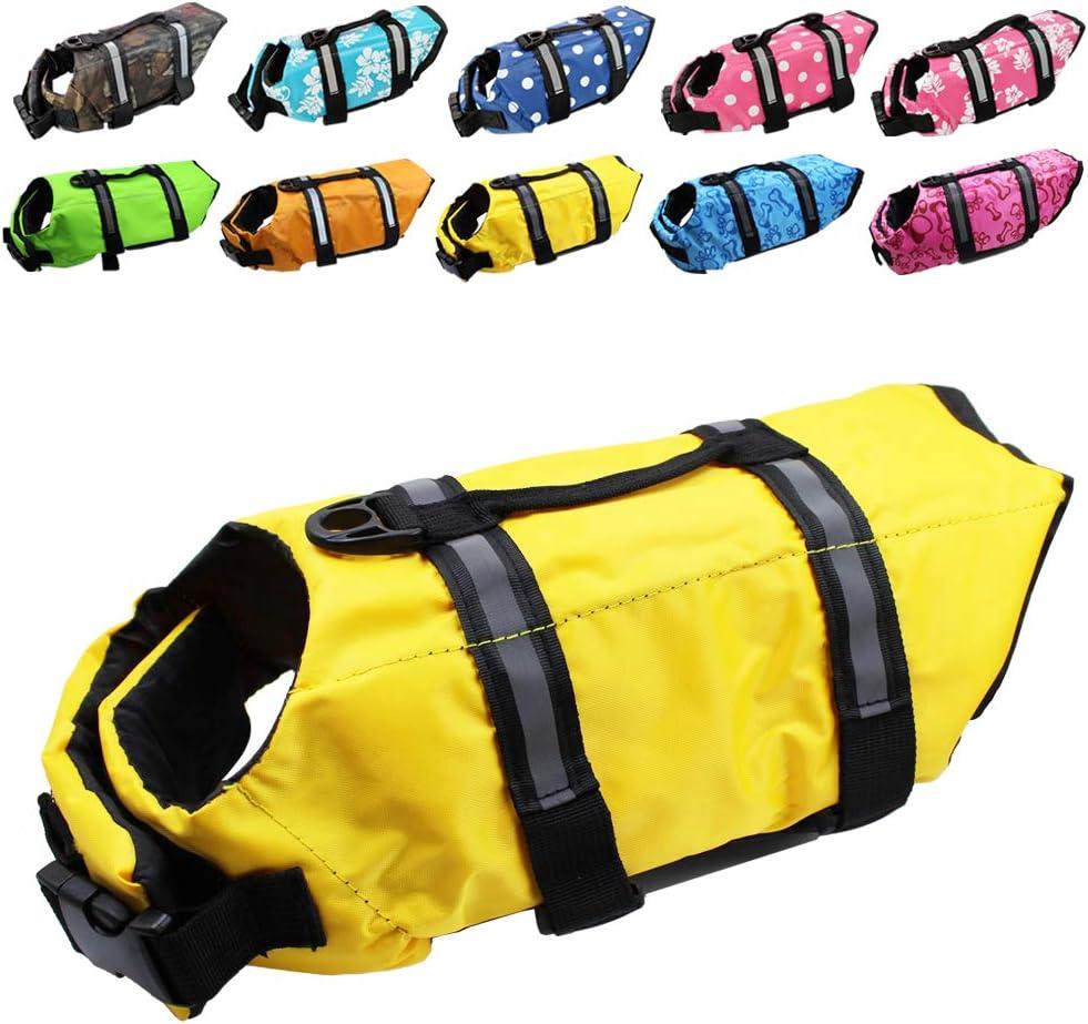 Dog Life Jacket Easy-Fit Adjustable Pet Safe Belt Swimming Saver Opening large release sale latest