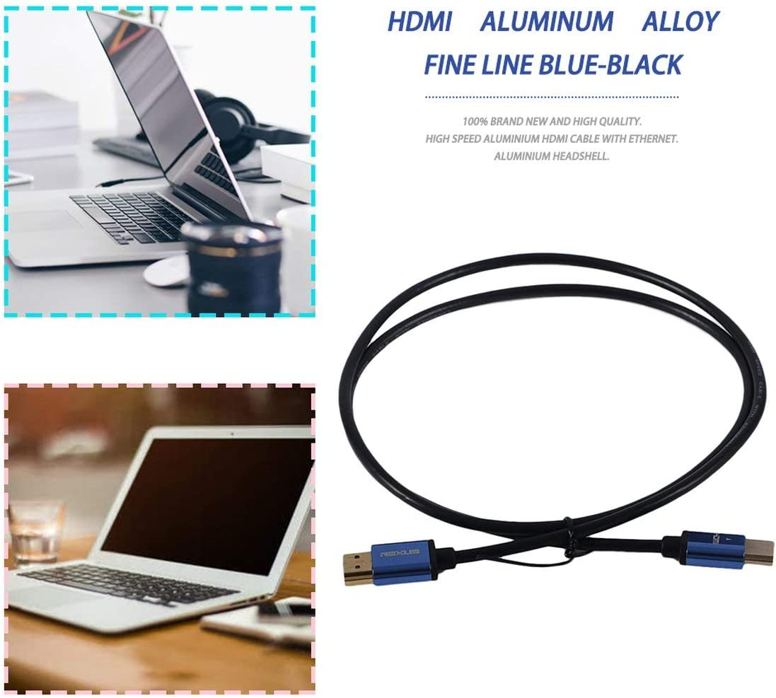 1M//3M//5M//10M Super Long Aluminum Alloy HDMI Cable Male to Male Super High Speed HDMI Cable Ethernet 3D 4K Black