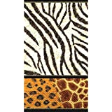 """Party in Style Decorative Animal Print Guest Hand Towels, Paper , 4"""" x 7"""", Pack of 16"""