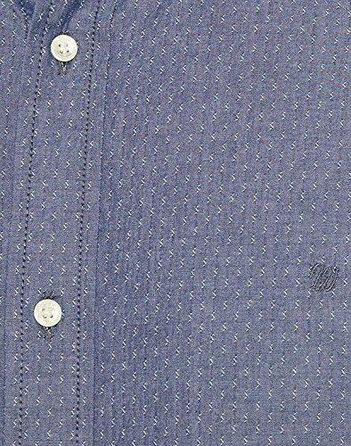 Wrangler Herren Freizeithemd L/S Button Down Shi, New Indigo, Gr.: XXXL