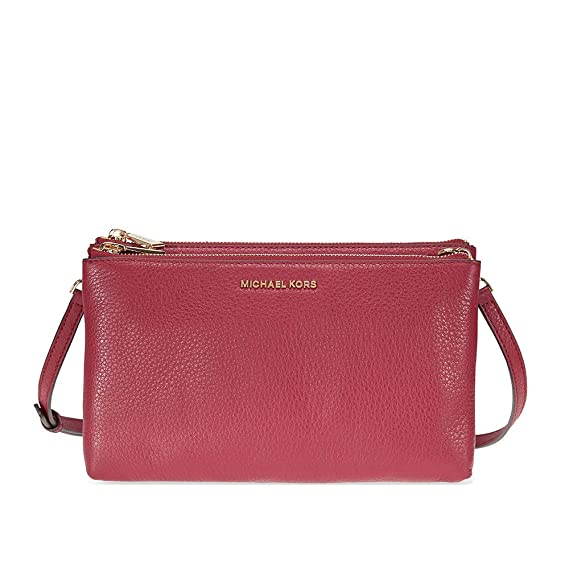 ed69a99f3061 Michael Kors Adele Double Zip Crossbody - Mulberry: Amazon.in: Clothing &  Accessories