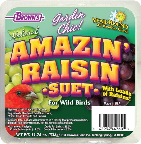 (F.M. Brown's, Garden Chic Suet and Bread Cakes, 11-3/4-Ounce Amazin Raisin)