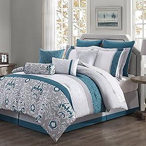 Chloe 10 Piece Reversible Comforter Set (Cal King)