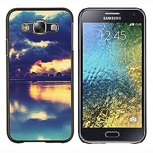 """Be-Star Único Patrón Plástico Duro Fundas Cover Cubre Hard Case Cover Para Samsung Galaxy E5 / SM-E500 ( Pintoresco Sunset Lake"""" )"""