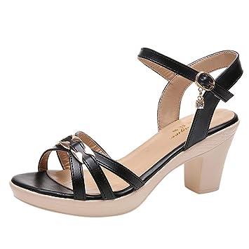 Makefortune 2019 Damen Sandals, Frauen Sandalen Mode LäSsig Spitze Zehe DüNne Ferse Damen Party Schuhe High Heels Paar Hohl Damenschuhe Gleitenfest