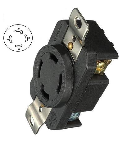 30 Amp Outlet >> Generic 30 Amp Generator Receptacle Industrial Outlet Nema L14 30r Receptacle Industrial Grade Grounding 125 250v Flush Mounting Locking For Generator