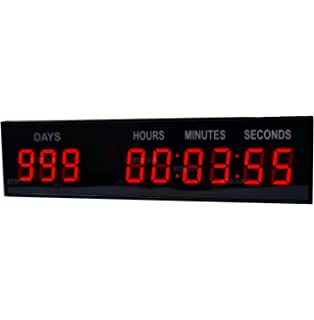 1.8 LED Large Digital Countdown Clock Event Timer With Remote And Buttons