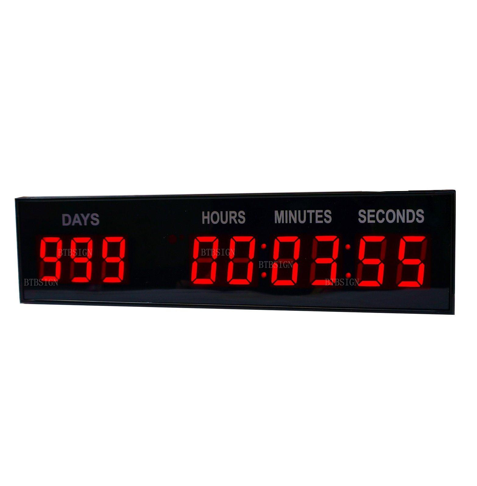 BTBSIGN 1.8'' LED Large Digital Countdown Clock Event Timer with Remote and Buttons by BTBSIGN