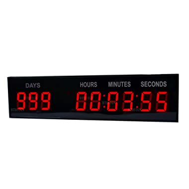 BTBSIGN 1.8'' LED Large Digital Countdown Clock Event Timer with Remote and Buttons