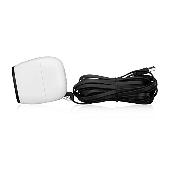 Online-Enterprises 20 Foot Charging Power Cable- Fits, Arlo Pro, Arlo Pro  2, Arlo GO -Indoor/Outdoor Compatible, Weatherproof- Flat- Quick Charge