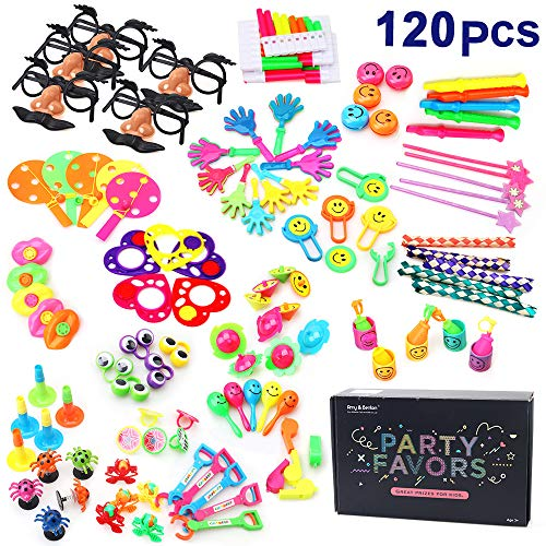 Amy & Benton 120PCS Carnival Prizes for Kids Birthday Party Favors Prizes Box Toy Assortment for Classroom -