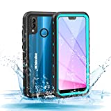 Mishcdea for Huawei P20 Lite Waterproof Case Shockproof Snow-Proof Dirt-Proof Full Body Phone Protector Cover for Huawei P20 Lite (Huawei Nova 3e), Blue (Color: Blue)