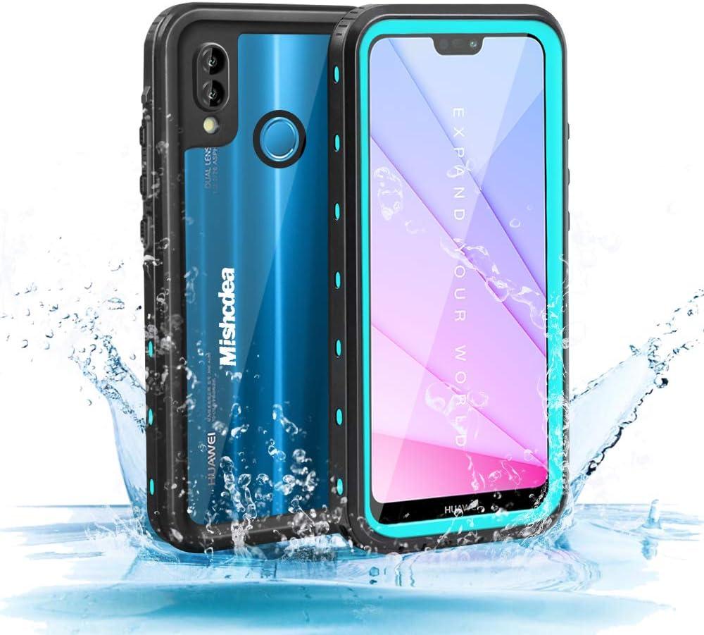 Mishcdea for Huawei P20 Lite Waterproof Case Snow-Proof Dirt-Proof Full Body Phone Protector Cover for Huawei P20 Lite (Huawei Nova 3e) 2018, Blue
