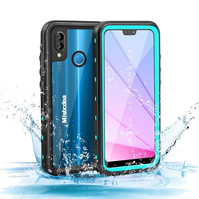 Mishcdea for Huawei P20 Lite Waterproof Case Shockproof Snow-Proof Dirt-Proof Full Body Phone Protector Cover for Huawei P20 Lite 2018 (Huawei Nova ...