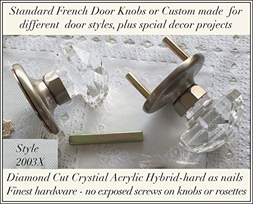Exceptional Door Set Diamond Cut Crystal Hybrid Acrylic   Value Features  French Door