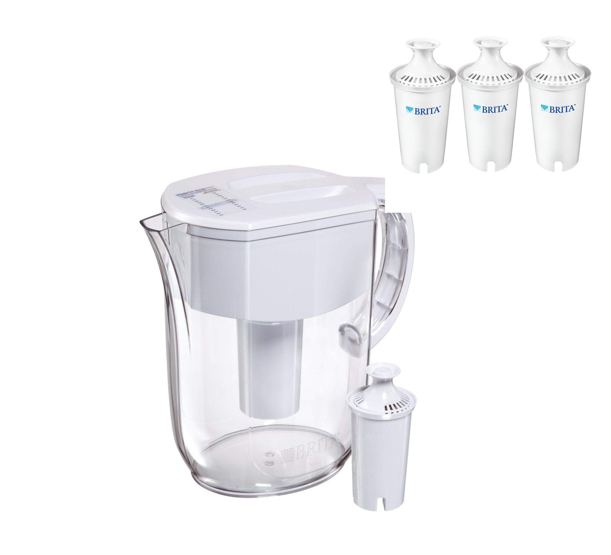 Brita Large 10 Cup Everyday Water Pitcher (Pitcher with 4 Filters)