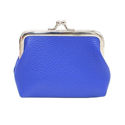 LINSINCH - Monedero de Piel Maciza para Mujer, Azul (Azul ...