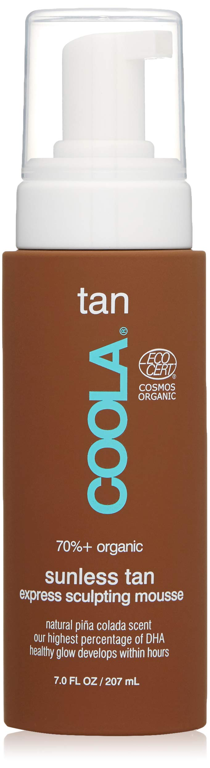 COOLA Organic Sunless Tan Express Body Mousse | Firming | Transfer-Free | Fast Drying | Pina Colada
