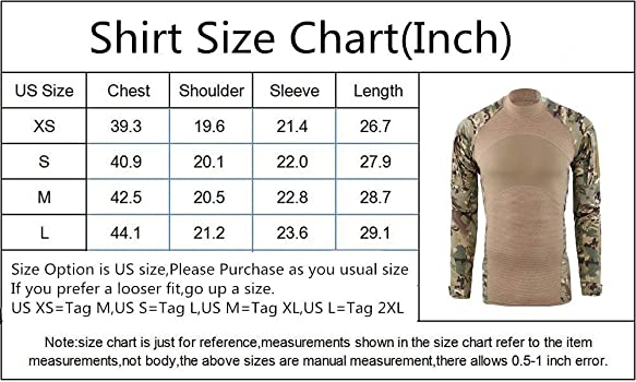 Amazon.com: Camisa militar de combate uniforme para hombre ...