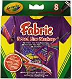Crayola BroadLine Fabric Markers, 8 Count (Replacing 58-8176)