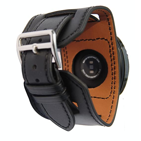 06e370e18 Image Unavailable. Image not available for. Color: 20mm Genuine Leather Cuff  Wrist Watch Band ...