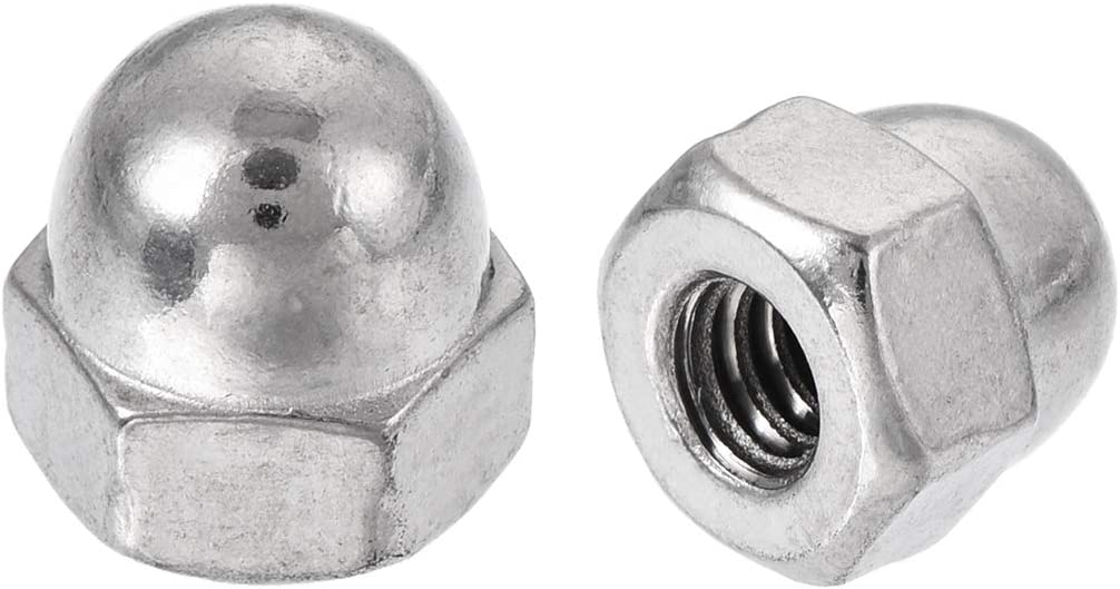 Yuhtech Acorn Nuts 180 Pcs Stainless Steel Dome Cap Nuts Hexagon Domed Hex Head Cap Nut Set