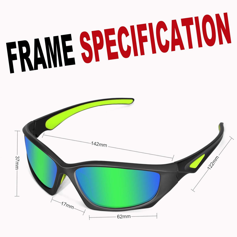 Amazon.com: DUIDY Polarized Sports Sunglasses for Women Men ...