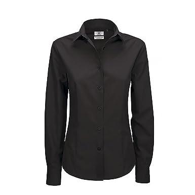 B&C Ladies Smart Long Sleeve Poplin Shirt / Ladies Shirts: Amazon ...