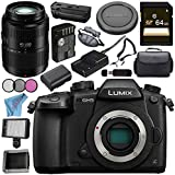 Panasonic Lumix DC-GH5 DC-GH5KBODY Mirrorless Micro Four Thirds Digital Camera Lumix G Vario 45-200mm f/4-5.6 II POWER O.I.S. Lens Bundle