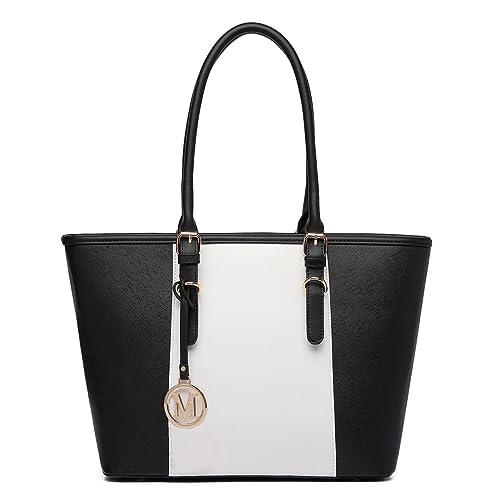 Miss Lulu Leather Look V-Shape Shoulder Handbag 48f969b0def07