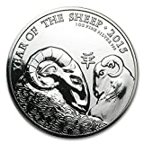 2015 UK Great Britain 1 oz Silver Year of the Sheep (Abrasions) 1 OZ Very Good