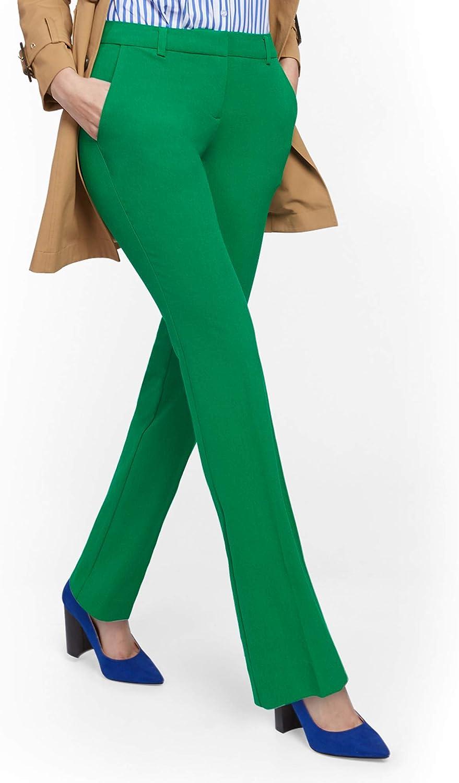 Womens Petite Straight-Leg Pant New York /& Co Modern 7Th Avenue