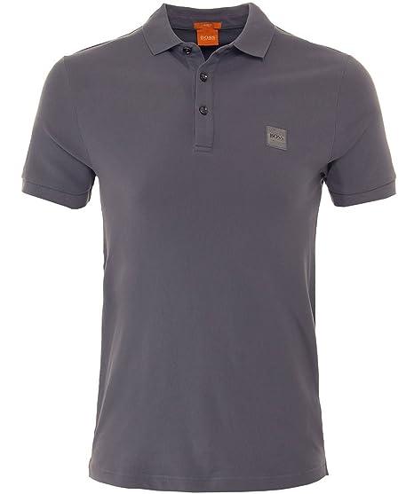 Hugo Boss Orange Men's Slim Fit Pavlik Polo Shirt M Grey