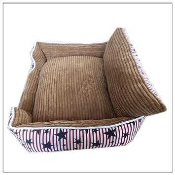 635 Cama para Perros Cojín Suave extraíble para Cama Impermeable del Animal doméstico Gato y Cachorro Lona s:48 Costura Pana * 40 * 16 cm: Amazon.es: Hogar