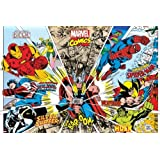 Posters: Marvel Comics Poster - Rays Characters (36 x 24 inches)