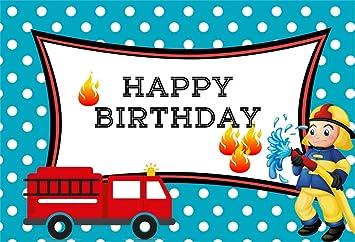 Happy Birthday Fire Truck Folienballon Luftballon Shop