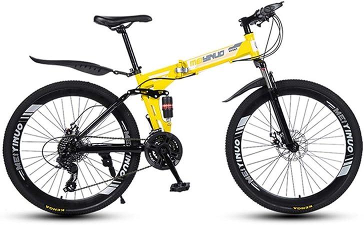 Dsrgwe Bicicleta de Montaña, Bici de montaña Plegable, Bicicletas ...