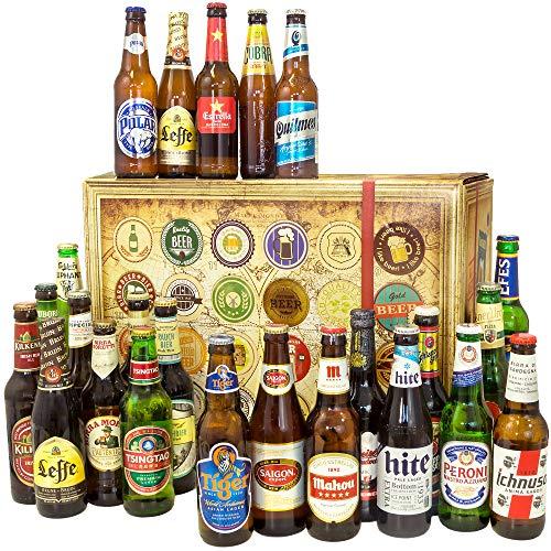 24x Biere der Welt + Bierpaket Mann + Biergeschenk + Geburtstagsgeschenk Set