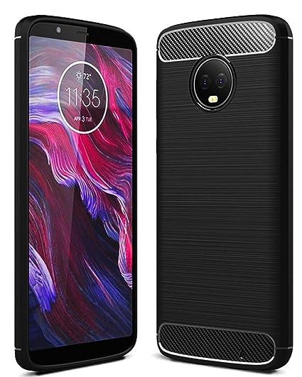 Golden Sand TPU Back Case Cover for Motorola Moto G6 Plus (Black) <span at amazon