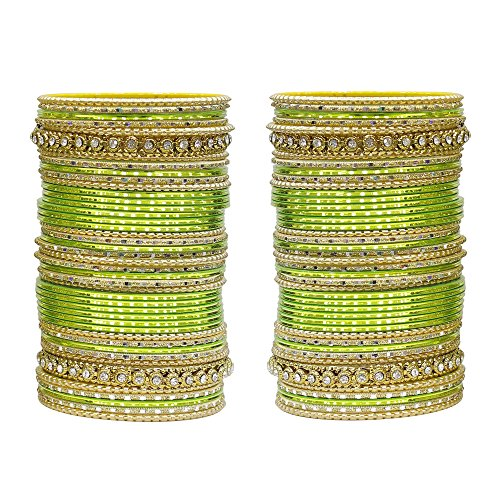 MUCH-MORE 86 Bangles Set of Multi Colour Amazing Collection of Bangles Set for Womens (Parrot, 2.4)
