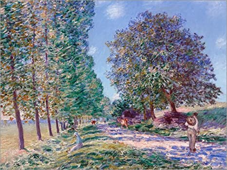 Cuadro de metacrilato 80 x 60 cm: Poplar Avenue at Moret on The Loing de Alfred Sisley/ARTOTHEK